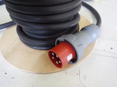 125A krachtstroom H07RN-F 5G25mm2 verlengkabel