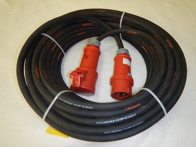 380V 16A 400V verlengkabel 5G4 met IP44 stekkers