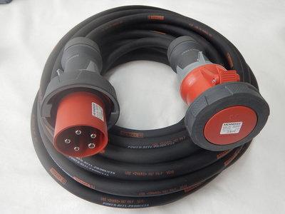 380V 63A 400V verlengkabel H07 RN-F 5G10 met IP67 stekkers